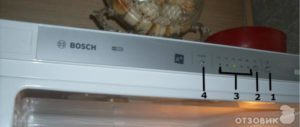 Почему мигает индикатор температуры морозильной камеры у холодильника Бош