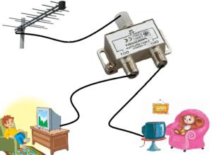 Как к одной антенне подключить два или несколько телевизоров