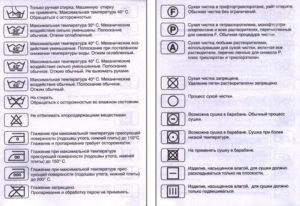Значки для стирки. Расшифровка знаков стирки на одежде