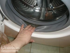 Почему в стиральной машине остается вода в резинке