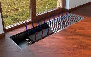 Водяные конвекторы отопления: напольные встраиваемые в пол настенные
