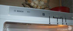 Холодильник Bosch мигает индикатор температуры