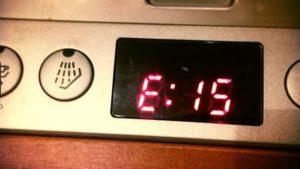 Ошибка е15 в посудомоечной машине Бош: расшифровка и устранение