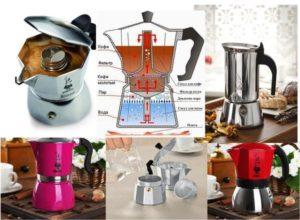 Приготовление кофе в кофеварках: гейзерной, капельной