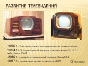 Когда появились и какими были первые телевизоры