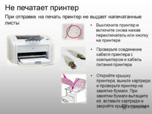 Принтер выдаёт белые листы – причина