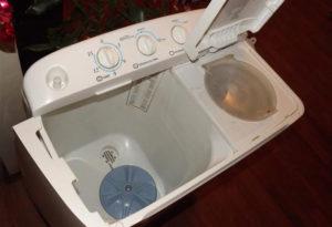 Стиральная машина полуавтомат с отжимом, полосканием и сливом