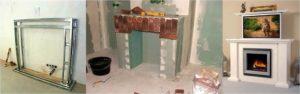 Как сделать портал для электрокамина из гипсокартона своими руками