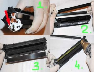 Как проводится заправка картриджа лазерного принтера тонером
