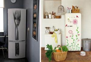 Декор холодильника: идеи дизайна своими руками