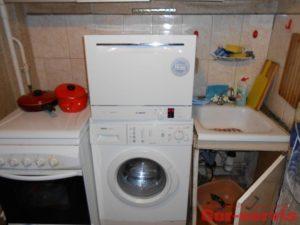 можно ли посудомоечную машину ставить на стиральную