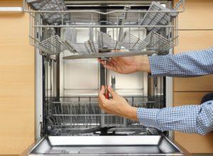 Ремонт и регулировка дверцы в посудомоечных машинах, как настроить или повесть дверь в посудомойке