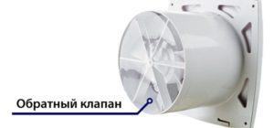 Вытяжной вентилятор: в ванную комнату на кухню для туалета с обратным клапаном