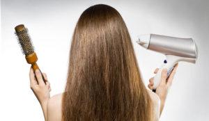 Как сушить волосы правильно