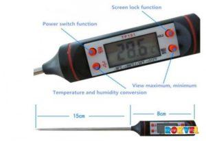 Кулинарный термометр: виды, назначение. Электронный термометр для мяса и жидкости :