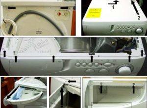 Как разобрать стиральную машину аристон своими руками