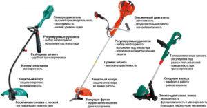 Схема устройства и принцип работы бензинового и электрического триммера для травы